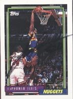 LaPhonso Ellis Denver Nuggets 1992 Topps Draft Pick Autographed Hand Signed Trading...