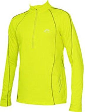 "Mens Fluorescent Yellow More Mile Alaska Long Sleeved Thermal Hi-Viz running top (X.X.Large 48-50"" chest)"
