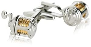 Fishing Reel Cufflinks with Gift Box