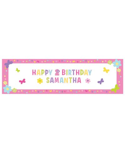 One-derful Birthday Girl Banner (1 per package)