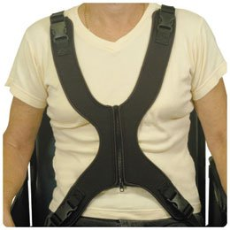 "Therafin Zipper Front Vest Female Size: Miss, Shoulder to Seat: 21""-22"", Armpit to Armpit"" 11""-14"""