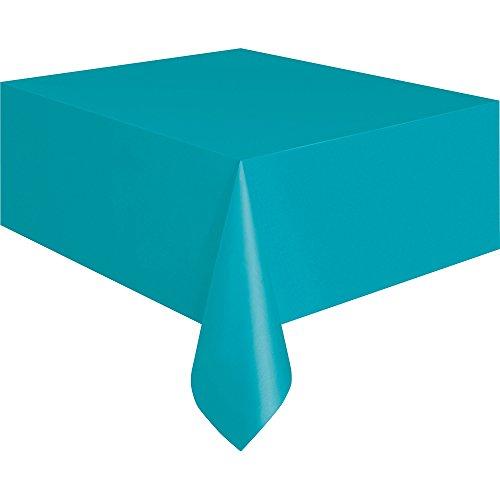 Unique Plastic Teal Table Cover, 108″ x 54″