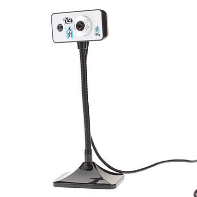 Tystylish Excited Chicken Pattern Plug-And-Play Usb Webcam With Led Light And Microphone