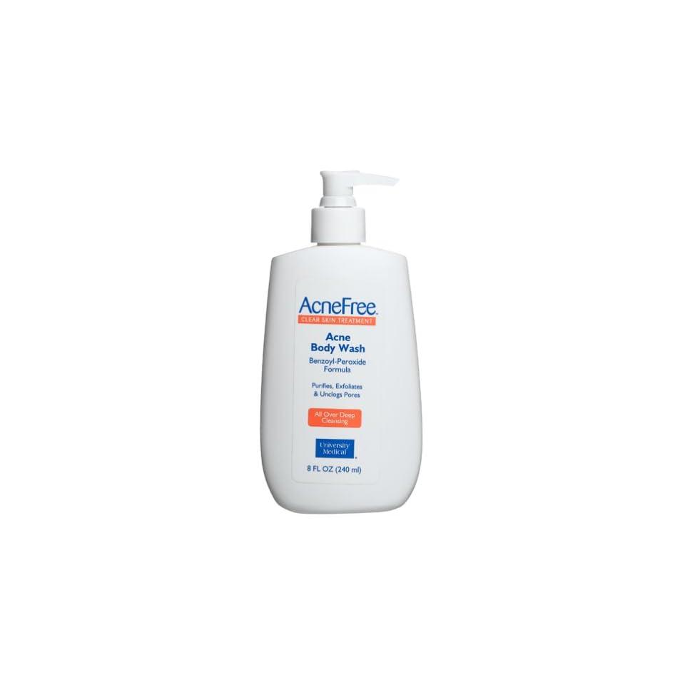 Benzoyl Peroxide Formula Body Wash, 8 Ounce Pumps (Pack of 3) Beauty
