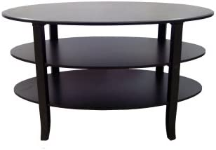 Amazing TMS London Collection Tier Oval Coffee Table Black