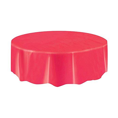 Round Plastic Tablecloth, 84
