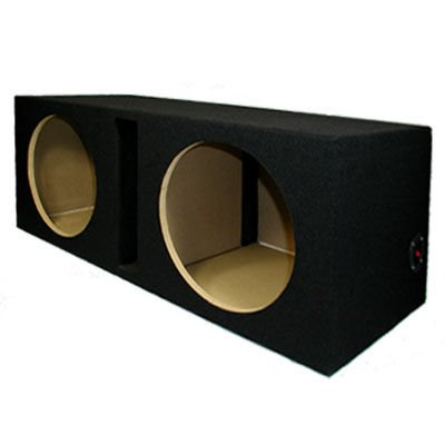 New Dual Car Black Subwoofer Box Ported Automotive Enclosure for Two 12