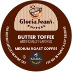 48 K CUPS GLORIA JEANS BUTTER TOFFEE BLEND COFFEE