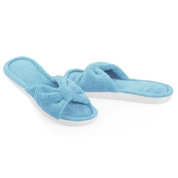 Cheap Microterry Bow Slide Slippers (B007KN5JAG)