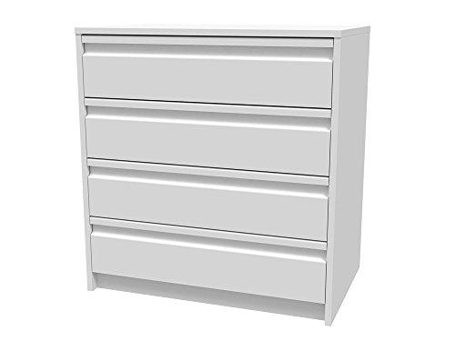 Meka-Block-K-7403B-Schubladenschrank-Kit-4-Schubladen-70-cm-breit-Farbe-wei