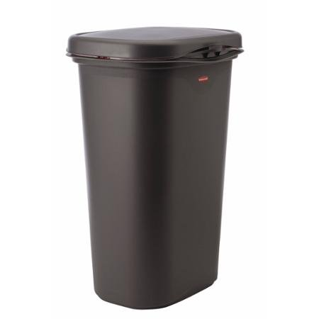 Rubbermaid Spring-Top 52-Quart Trash Can, Cashmere (Tall Rubbermaid Lid compare prices)