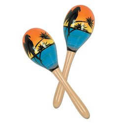 Tropical Fun Party Maracas (2/Pkg) - 1