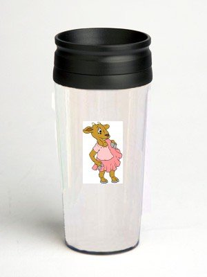 16 oz. Double Wall Insulated Tumbler with goat in dress - Paper Insert