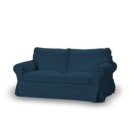 FRANC-TEXTIL 611-702-30 Ektorp 2-Sitzer Sofabezug nicht ausklappbar, Cotton Panama, marineblau