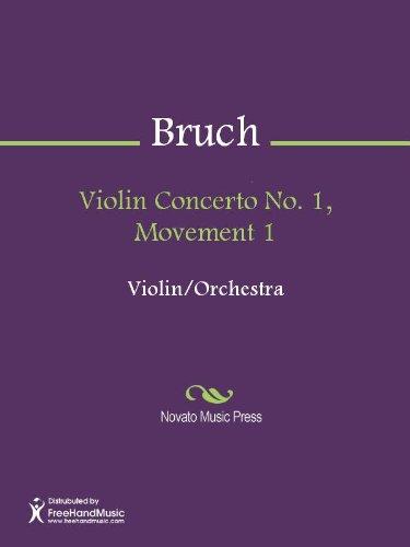 Violin Concerto No. 1, Movement 1 Sheet Music