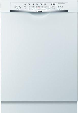 "Bosch SHE3ARL2UC Ascenta 24"" White Full Console Dishwasher - Energy Star"