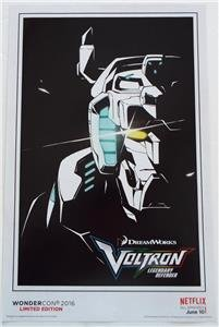 VOLTRON LEGENDARY DEFENDER Limited Edition Poster WONDERCON 2016 Exclusive