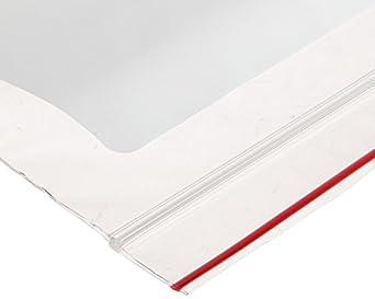 "Whatman 10548232 Plastic Ziploc Storage Bag, 6"" Length x 4"" Width (Pack of 100)"