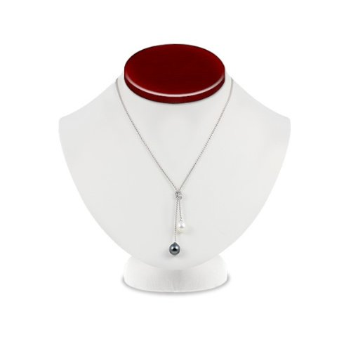 Harmony Collection White Freshwater and Tahitian Pearl Necklace
