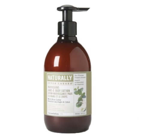 Upper Canada Soap And Candle Naturally Nourishing Body Lotion, Wild Mint Lime, 12-Ounce Bottle (Pack of 2)