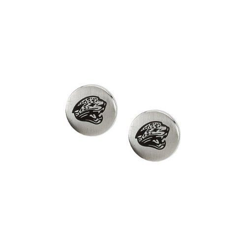 24690 St Steel Pair 10mm Jacksonville Jaguars Logo Stud Earrings Football NFL Men Team