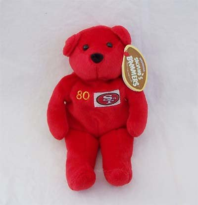"Jerry Rice 80 - Pro Sports Bear-9""- By Salvino's Bammers - 1"