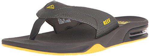Reef Fanning - Flip-flop Uomo, Grigio (Grey/Yellow), 43 EU