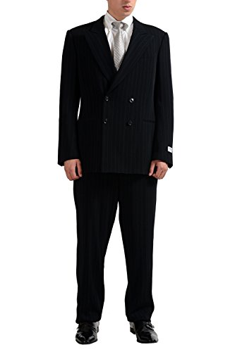 Armani-Collezioni-Mens-Wool-Silk-Striped-Double-Breasted-Suit-US-44R-IT-54R