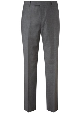 Austin Reed Contemporary Fit Grey Sharkskin Trousers SHORT MENS 30