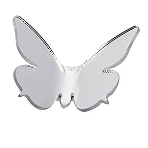 Great Value Wall Decor 3D DIY Wall Stickers Butterfly Mirror Surface Home Decor Room Decorations Small Silver from Mzamzi