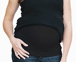 Pregnancy Belly Band / Maternity Belly Band: Before and After : Body Band : Pregnancy Band (Black, X-Large) - 1