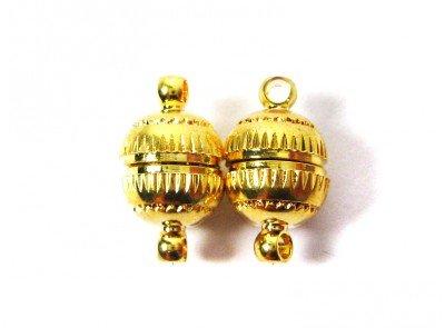 """Magnetverschluss """"Kugel"""" in gold 8x14 mm - 2 Stück"""
