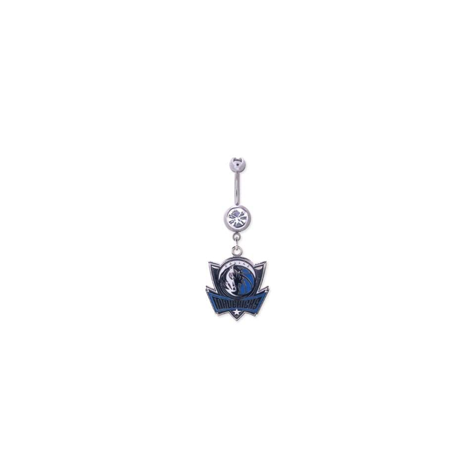 Dallas Mavericks 316L Stainless Steel Belly Ring   14G   5/8 Inch Bar Length   Sold Individually