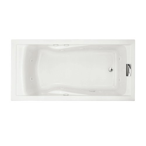 American Standard 7236V.020 Evolution 6-Feet by 32-Inch Deep Soak Whirlpool Bath Tub with Hydro Massage System I, White