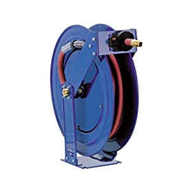 "Coxreels Truck Series Maximum-Duty Air Hose Reel, 300 PSI, Model# TSH-N-350, 3/8"" Hose ID, 50' Length"