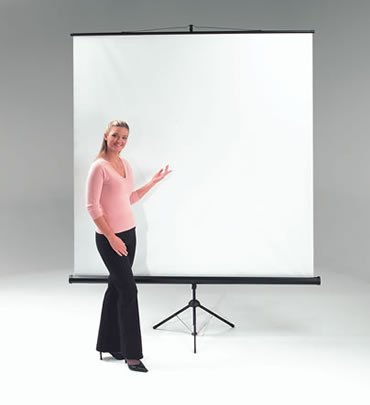METROPLAN ET1001 Budget Tripod Portable Projection Screen 150cm Wide