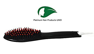 Hair Straightener Platinum Hair Professional Detangling Hair Brush Hair Styling Comb Digital Anti Static Anti-Scald Ceramic Heating Iron Hair Massage Straightening 450?/230?, Adjustable Temperature, Auto Lock, 30-min Timer, Anti-Scald