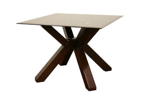 Cheap Baxton Studio Clifford Brown Glass Modern End Table (B0046ECK4A)