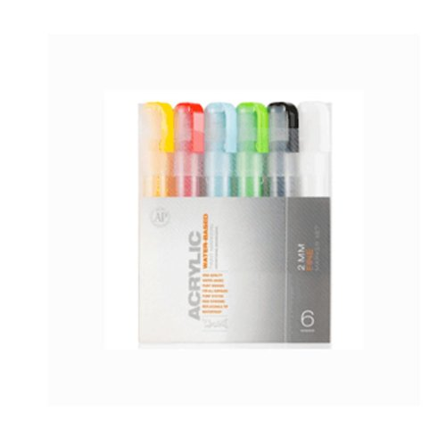 Montana Acrylic Paint Marker 6 Set 2Mm (Montana Paint Pens compare prices)