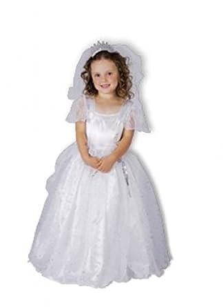 Childrens Girls Toddler Bride Wedding Dress Fancy Dress