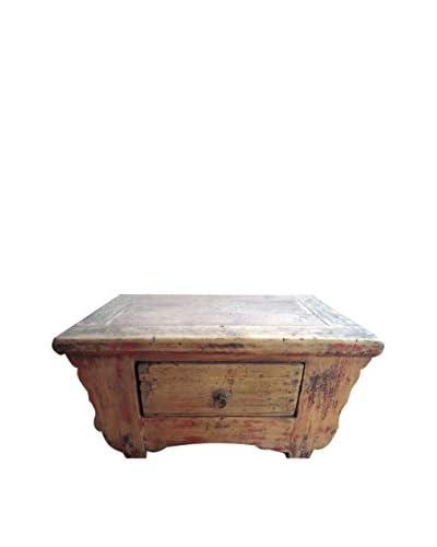 Asian Loft 19th Century. Shanxi Small Kang Table, Natural Wood