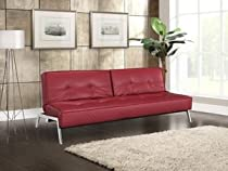 Big Sale Copenhagen Faux Leather Convertible Sofa