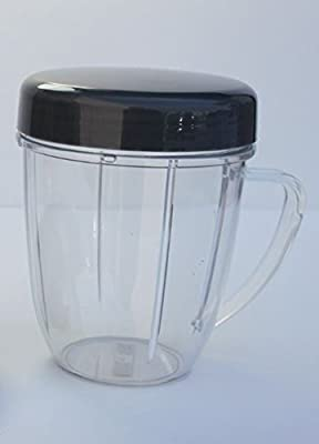 1 NutriBullet 18 OZ Handled Short Cup + 1 Stay Fresh Resealable Lid, New by Nutri Bullet that we recomend individually.