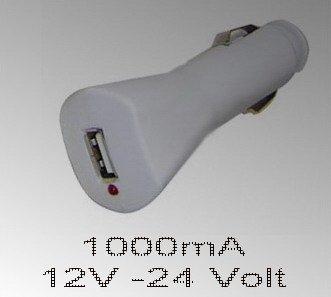 USB Power Strom Adapter 12V bis 24 Volt DC auf 5V DC Ladegerät aus Zigarettenanzünder PKW LKW Wohnmobil Auto Mac MP3 ipod Player