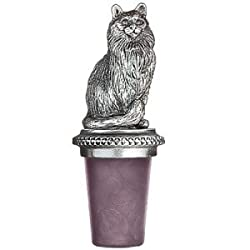 Pewter Cat Bottle Stopper