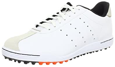 adidas Men's Adicross II Golf Shoe,Running White/Tan Brown/Eneregy,7 M US