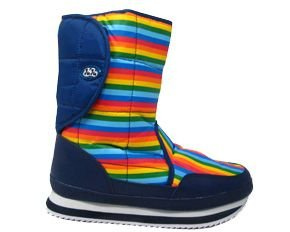 Women's Boots Juju Striped Velcro Side Snow Boots