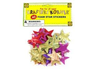 Foam Star Stickers Case Pack 96