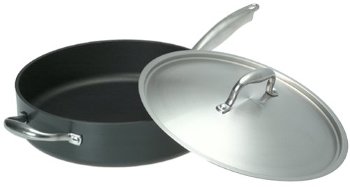 Anolon Titanium Hard Anodized Nonstick 5-Quart Saute with Lid and Helper Handle