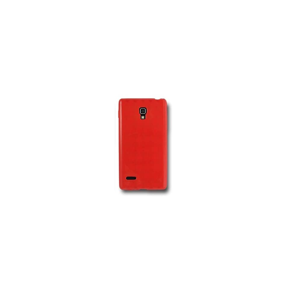 SOGA® Red TPU Rubber Skin Cover Case For T Mobile LG Optimus L9 P769 P760 [SWE305]